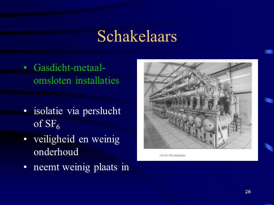 Schakelaars Gasdicht-metaal-omsloten installaties