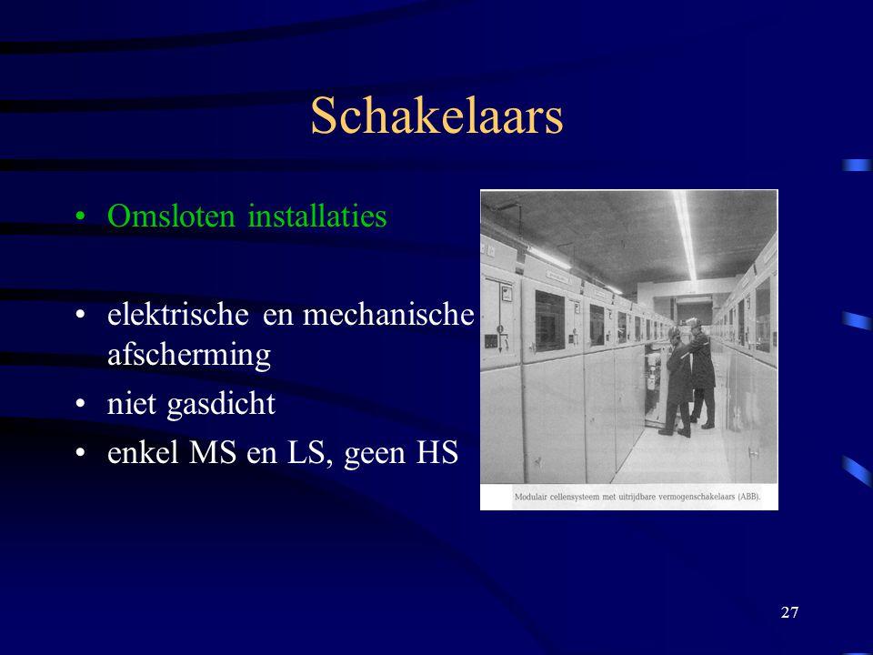 Schakelaars Omsloten installaties