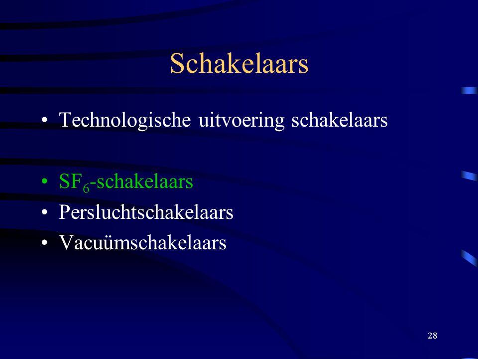 Schakelaars Technologische uitvoering schakelaars SF6-schakelaars
