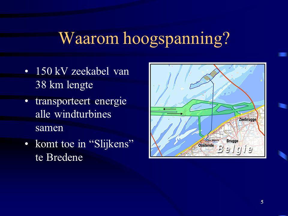 Waarom hoogspanning 150 kV zeekabel van 38 km lengte