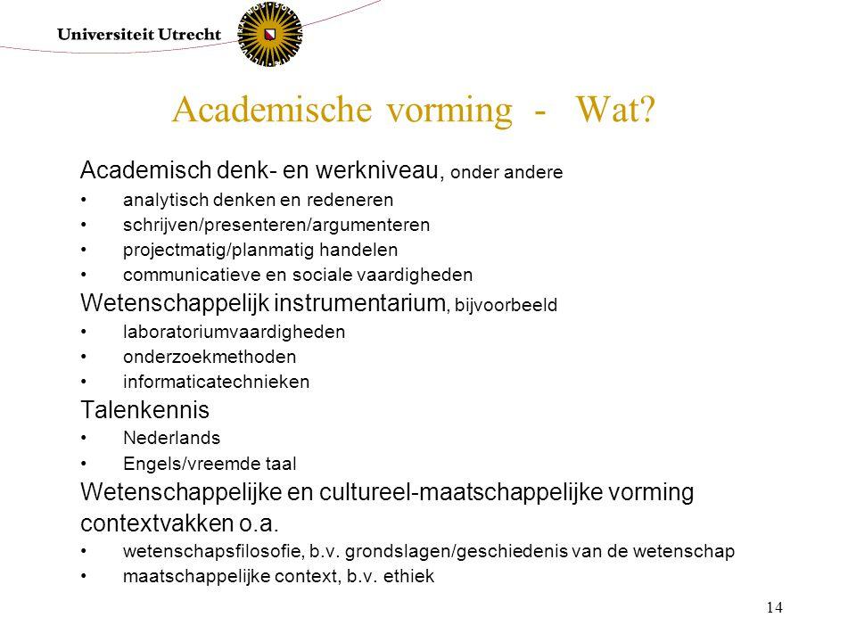 Academische vorming - Wat
