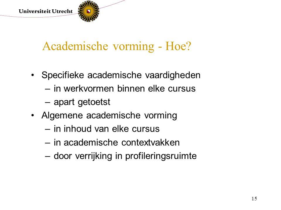 Academische vorming - Hoe