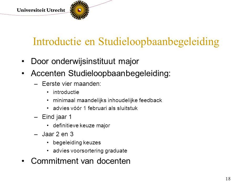 Introductie en Studieloopbaanbegeleiding