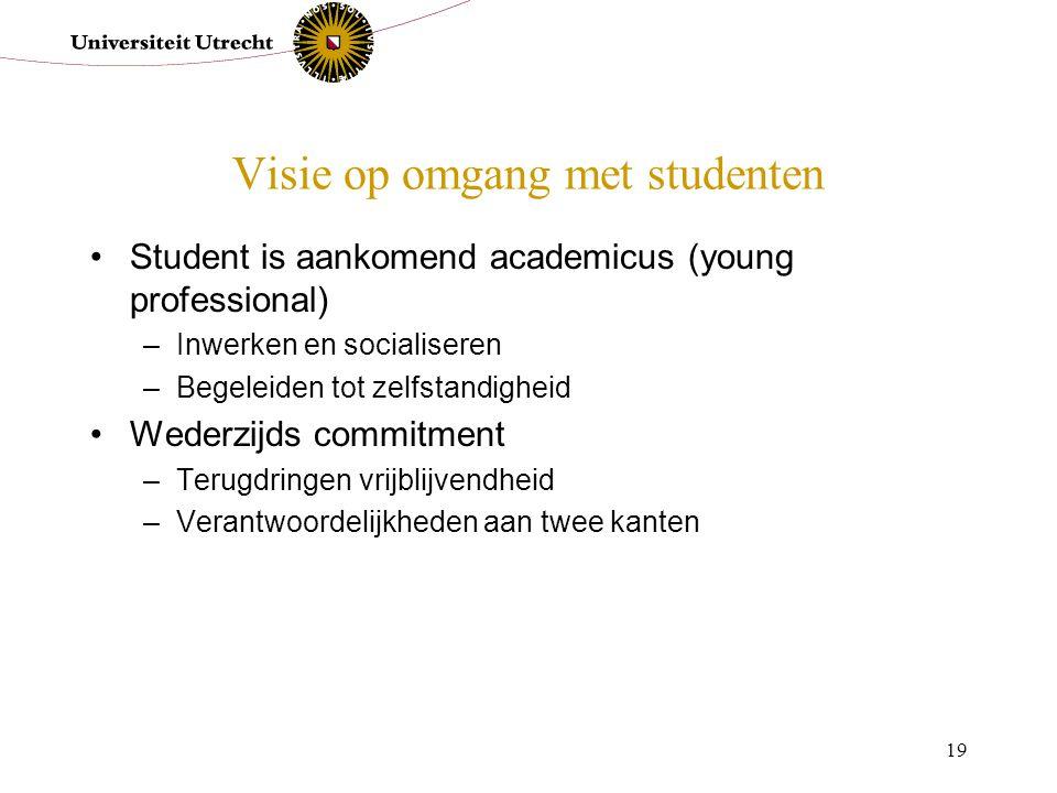 Visie op omgang met studenten