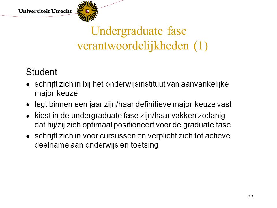 Undergraduate fase verantwoordelijkheden (1)