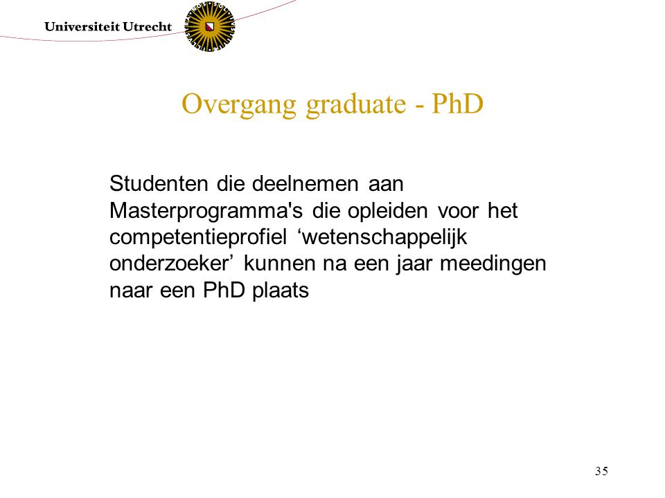 Overgang graduate - PhD