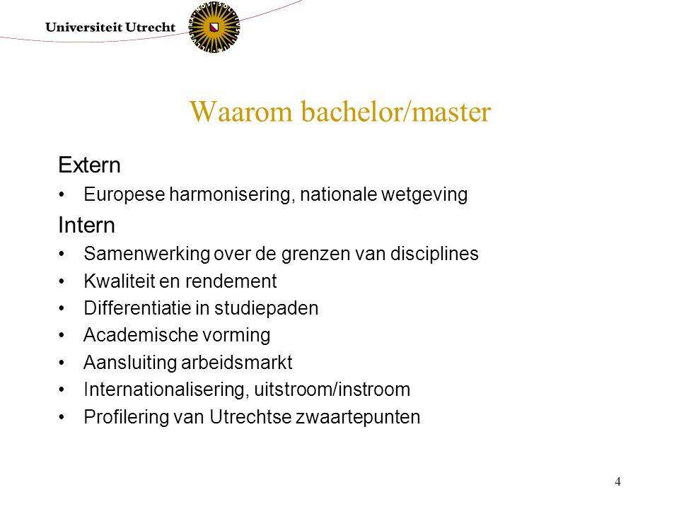 Waarom bachelor/master