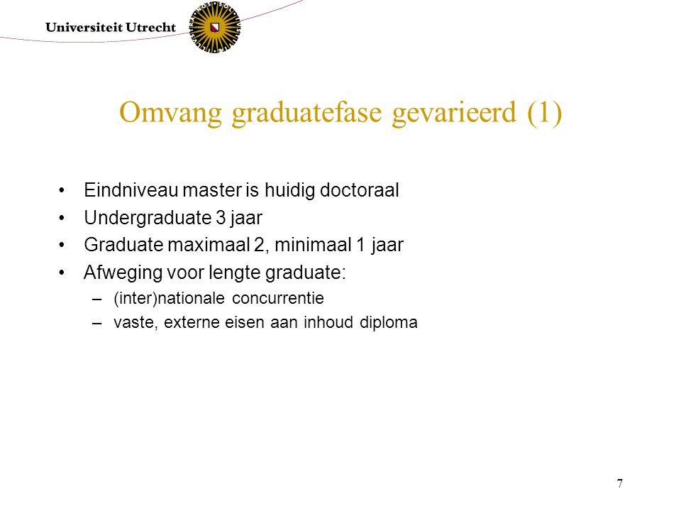 Omvang graduatefase gevarieerd (1)