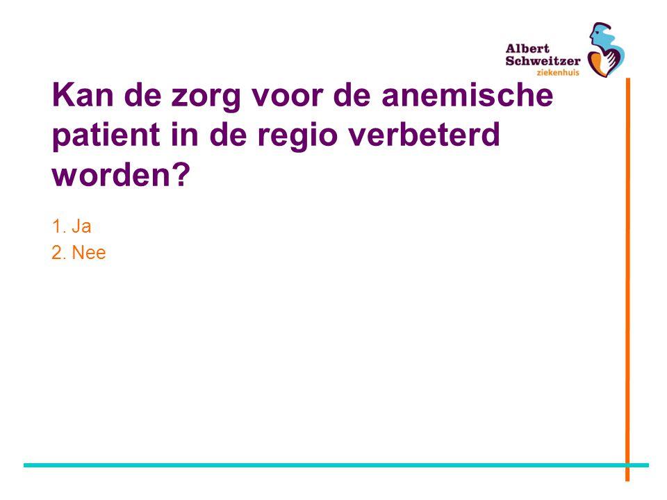 Kan de zorg voor de anemische patient in de regio verbeterd worden