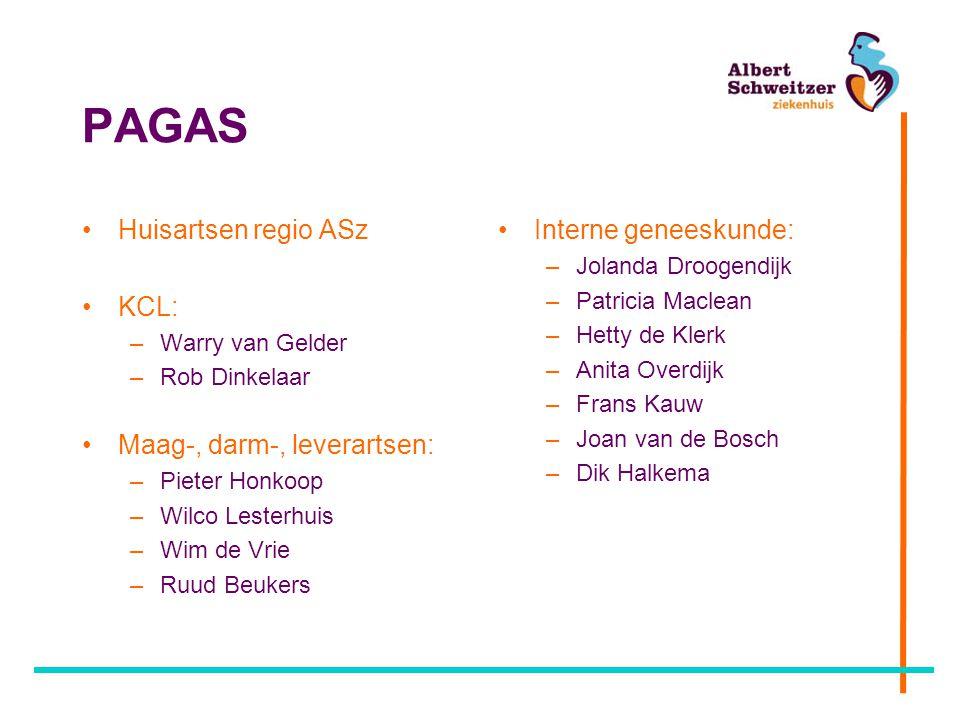 PAGAS Huisartsen regio ASz KCL: Maag-, darm-, leverartsen:
