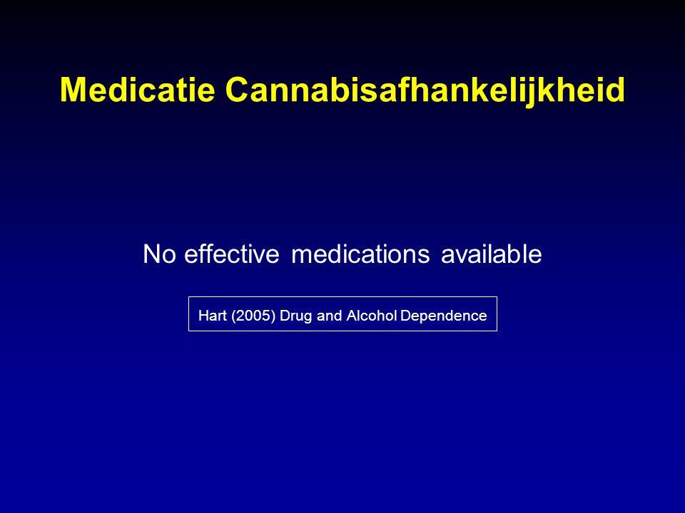 Medicatie Cannabisafhankelijkheid