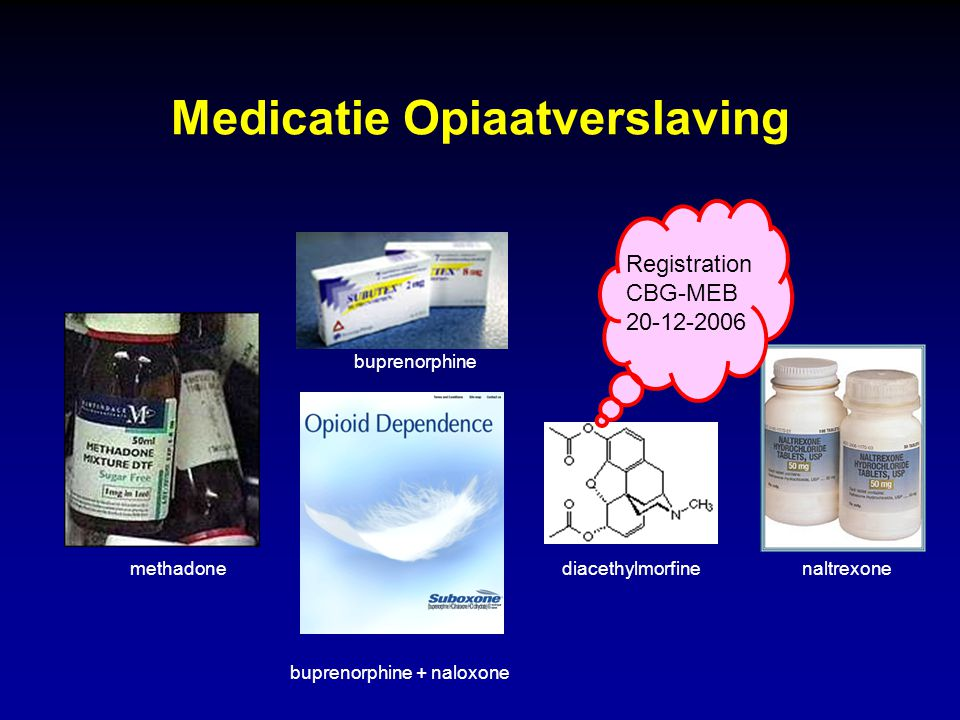 Medicatie Opiaatverslaving