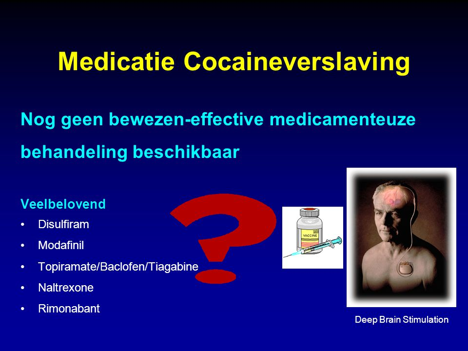 Medicatie Cocaineverslaving