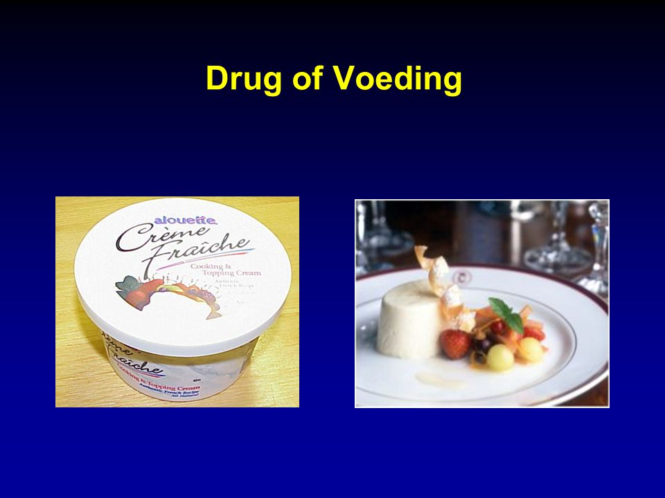 Drug of Voeding
