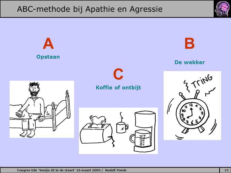 A B C ABC-methode bij Apathie en Agressie Opstaan De wekker