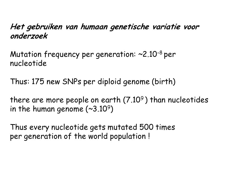 Het gebruiken van humaan genetische variatie voor onderzoek