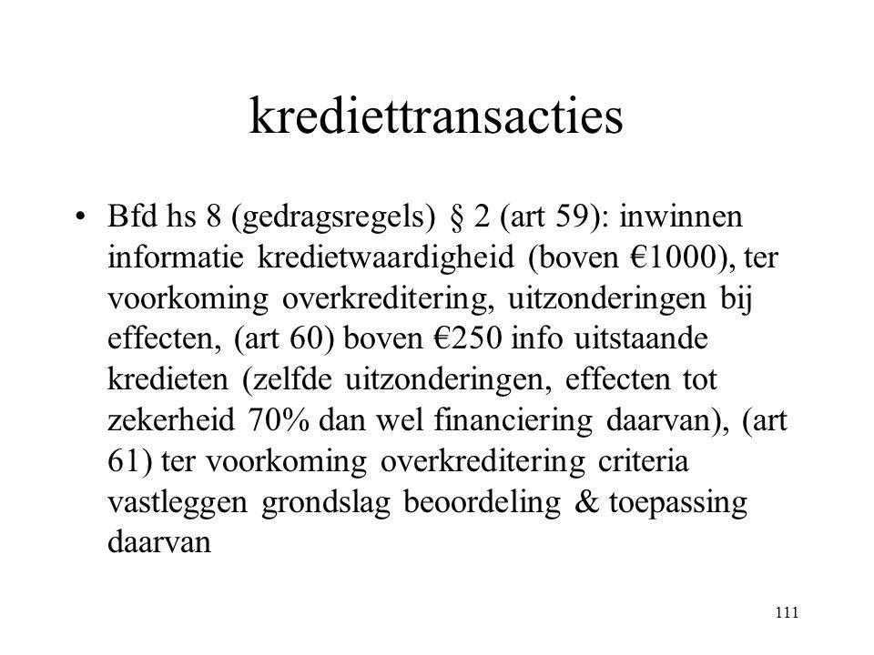 krediettransacties