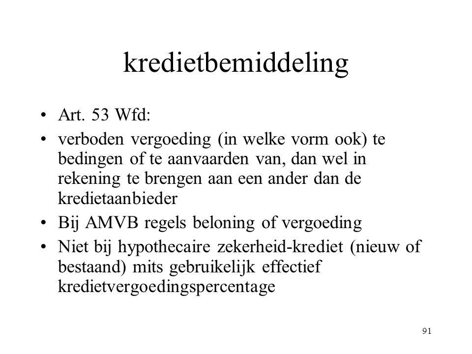 kredietbemiddeling Art. 53 Wfd: