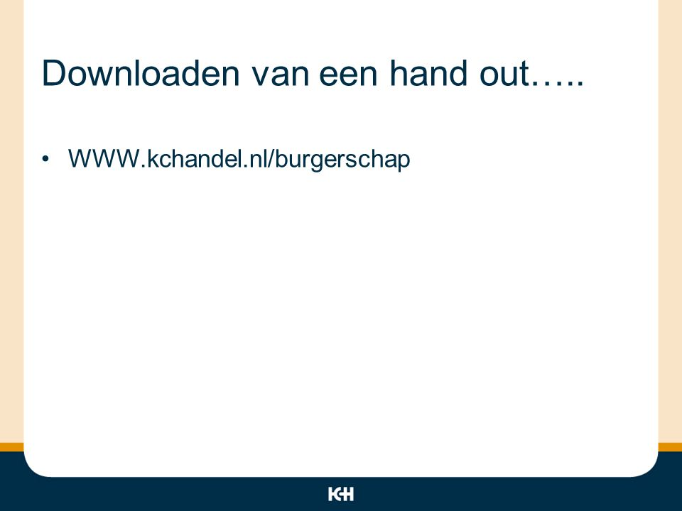 Downloaden van een hand out…..