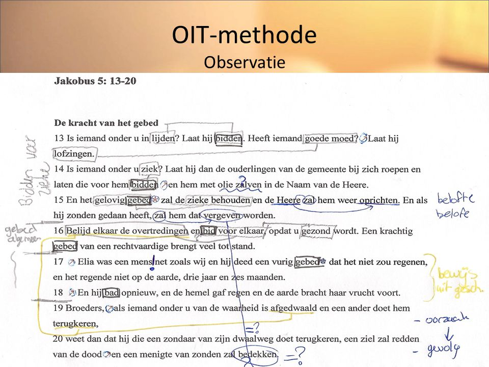 OIT-methode Observatie