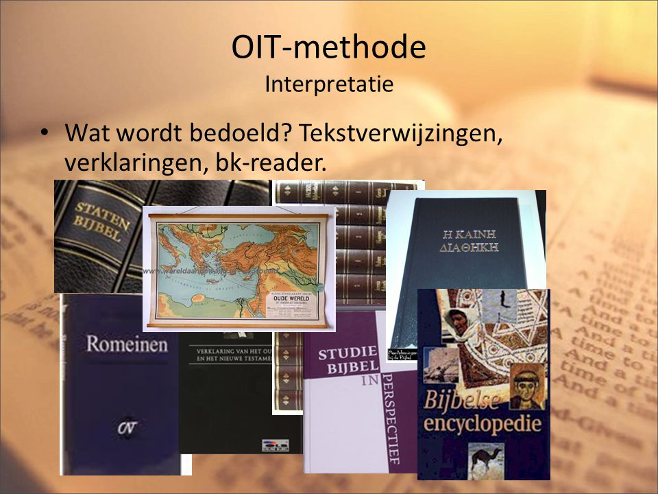 OIT-methode Interpretatie