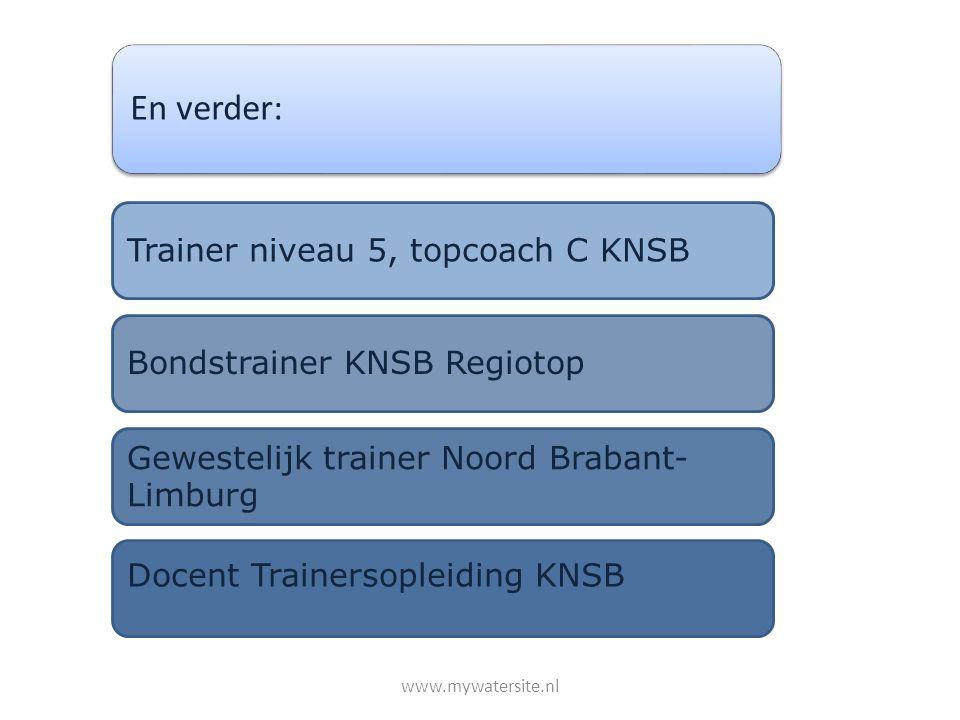 En verder: Trainer niveau 5, topcoach C KNSB