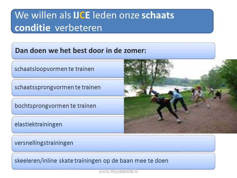 We willen als IJCE leden onze schaats conditie verbeteren