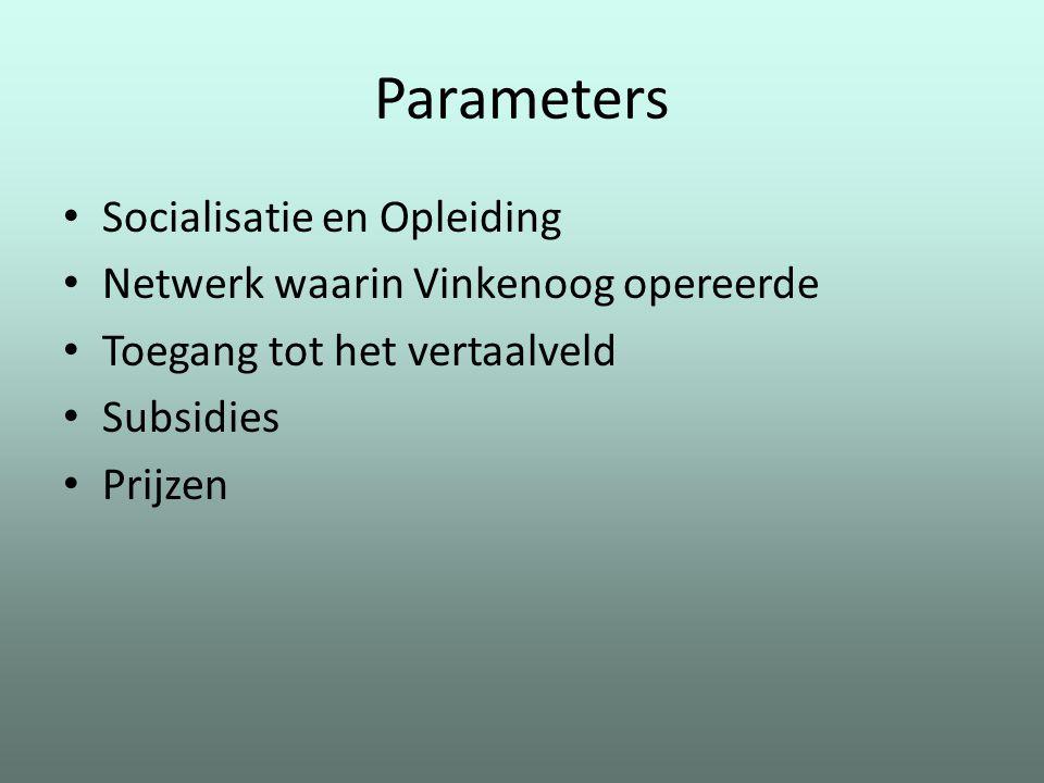 Parameters Socialisatie en Opleiding