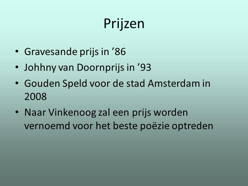 Prijzen Gravesande prijs in '86 Johhny van Doornprijs in '93