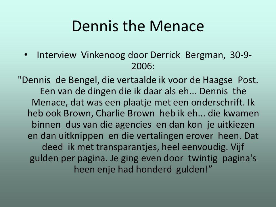 Interview Vinkenoog door Derrick Bergman, 30-9-2006: