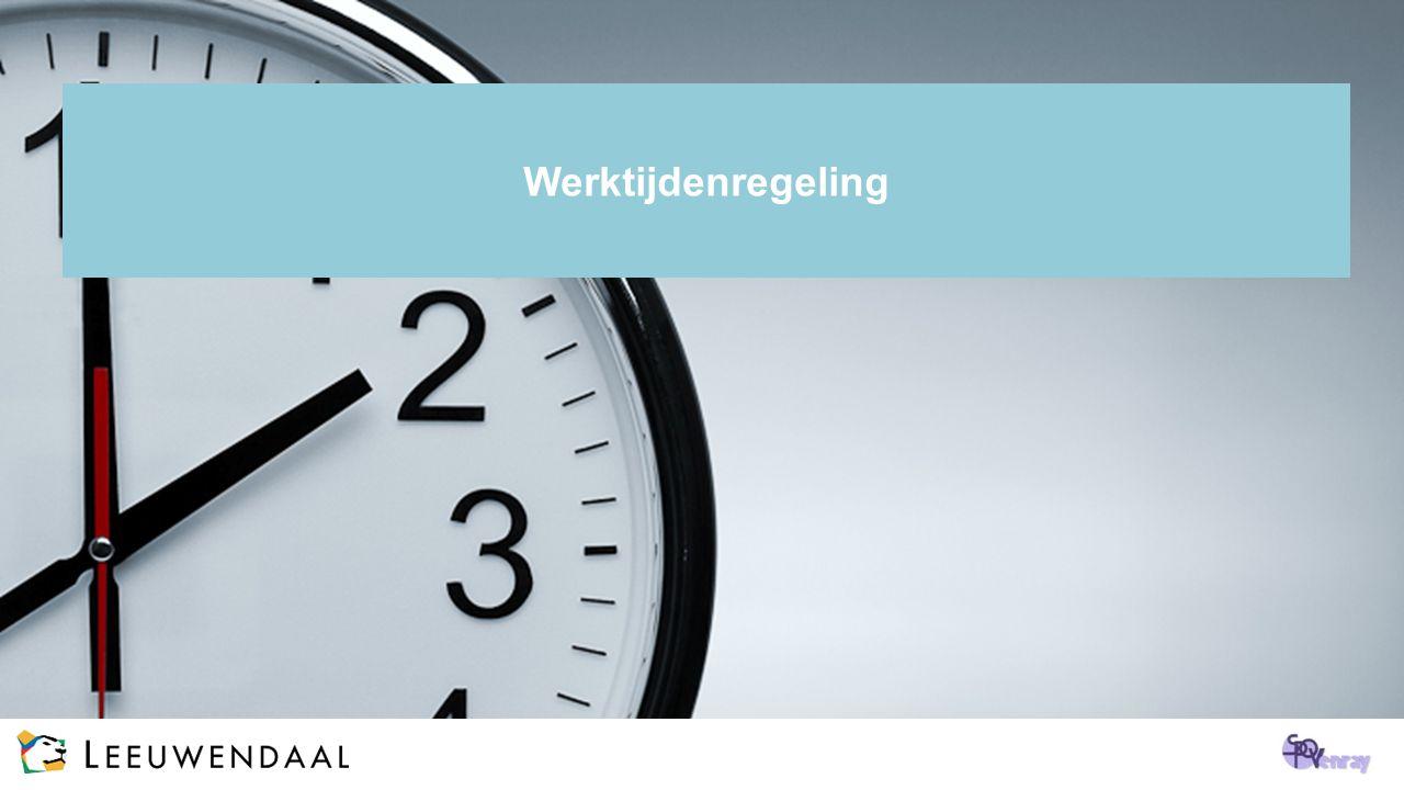 Werktijdenregeling