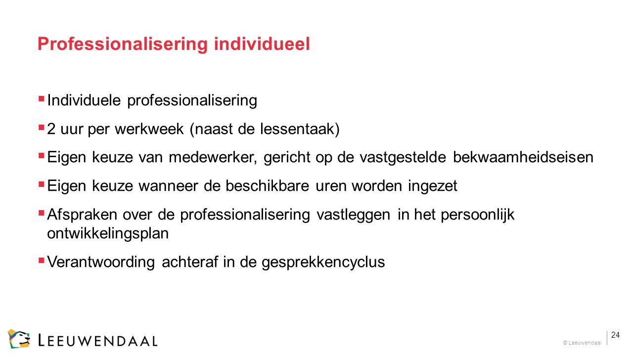 Professionalisering individueel