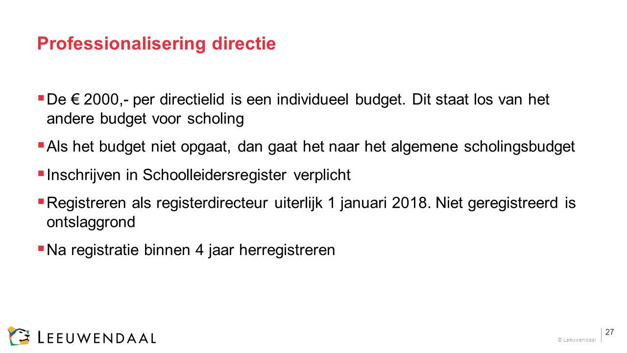 Professionalisering directie