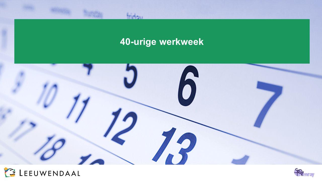 40-urige werkweek