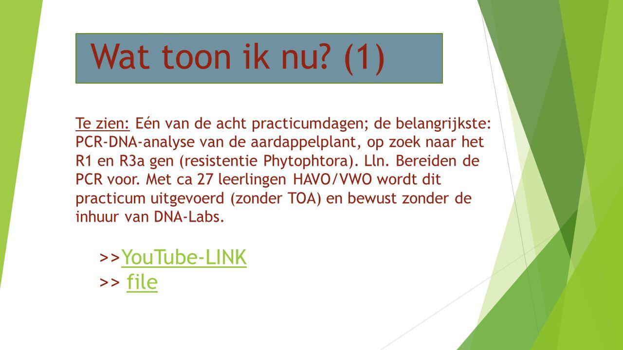 Wat toon ik nu (1) >>YouTube-LINK >> file