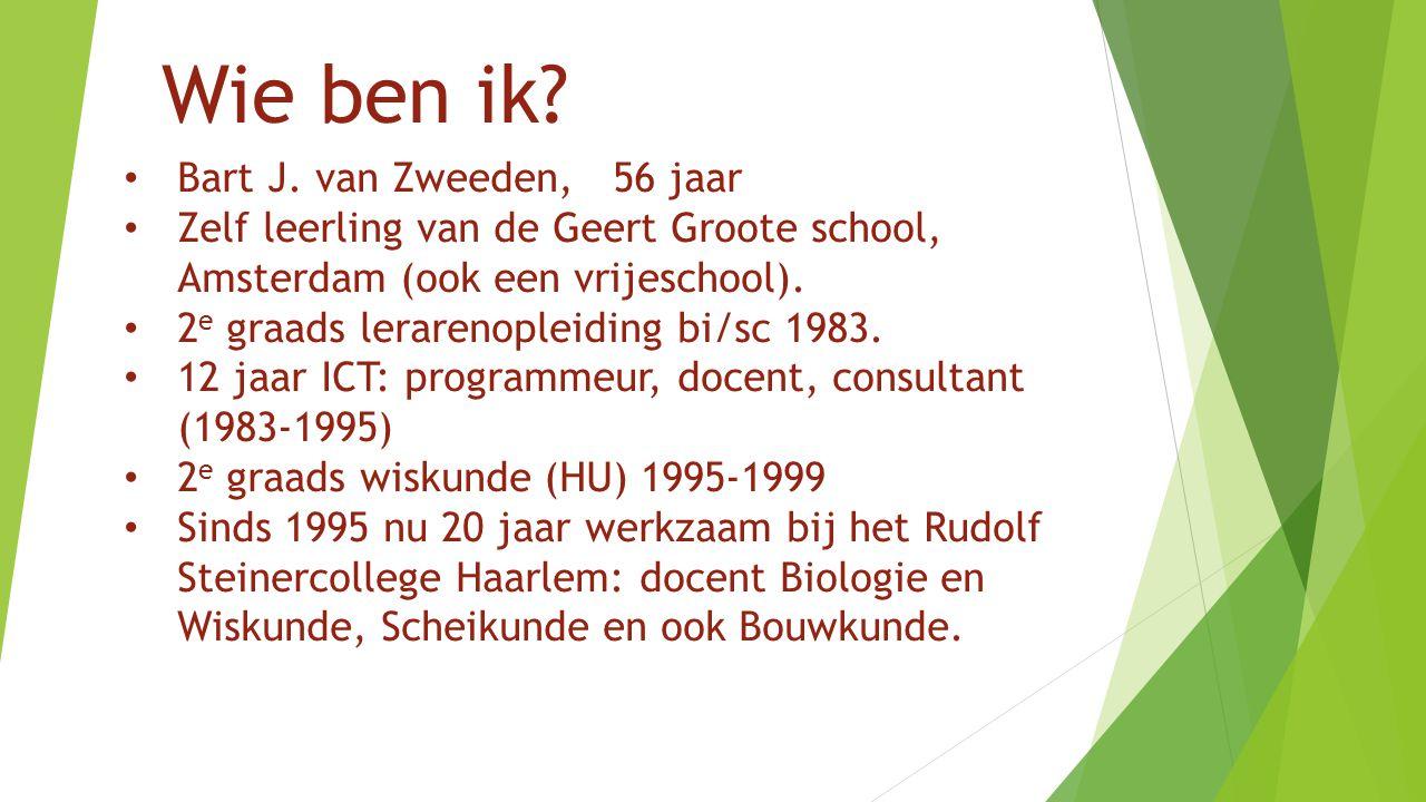 Wie ben ik Bart J. van Zweeden, 56 jaar