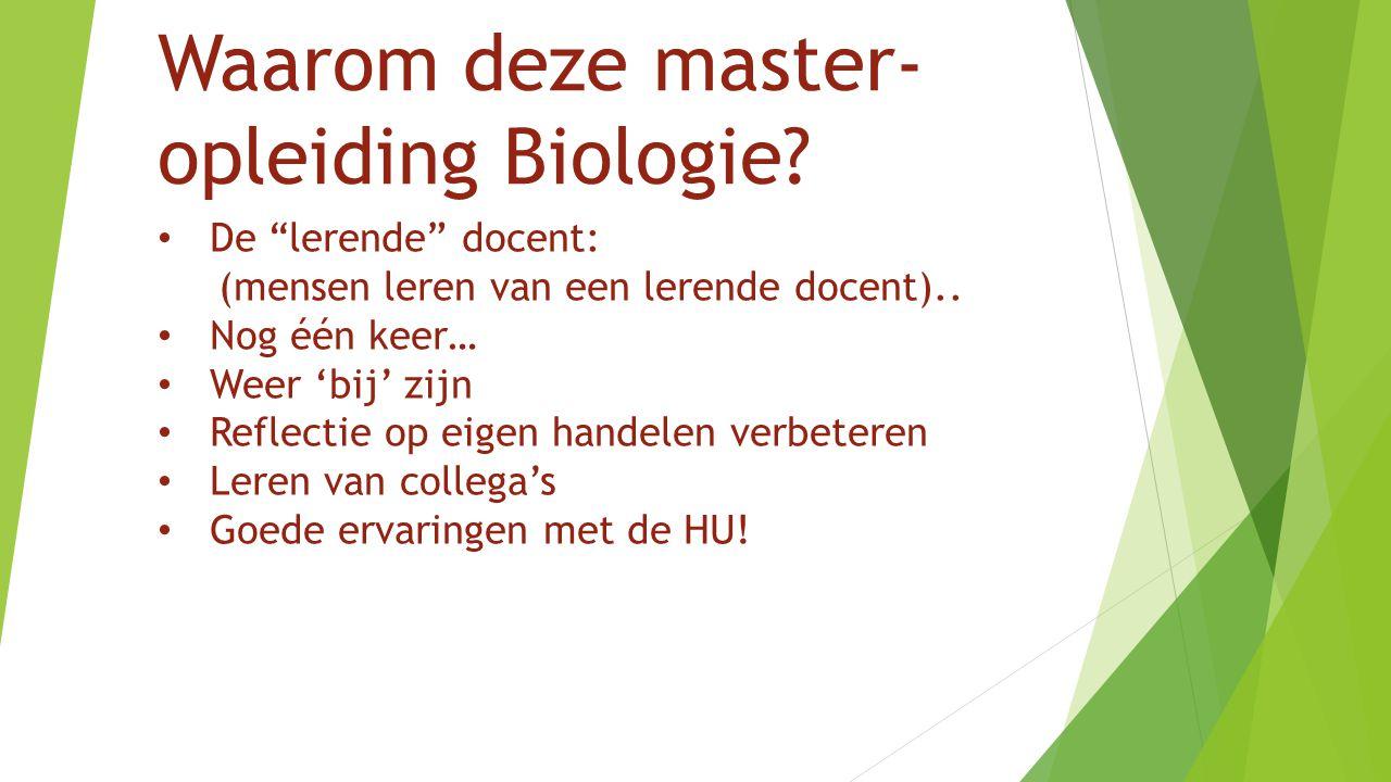 Waarom deze master-opleiding Biologie