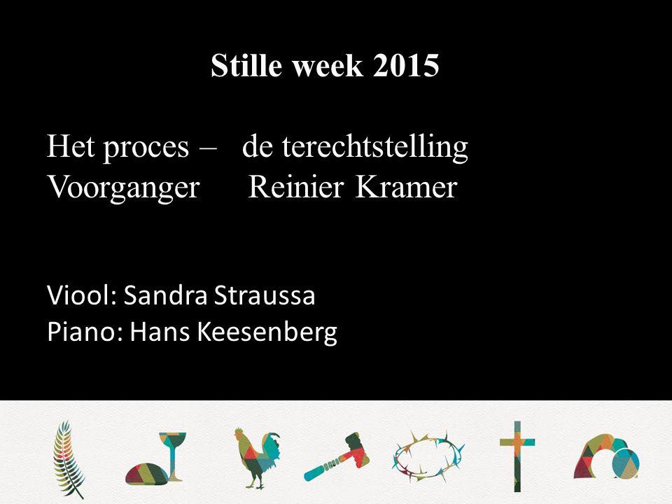 Het proces – de terechtstelling Voorganger Reinier Kramer
