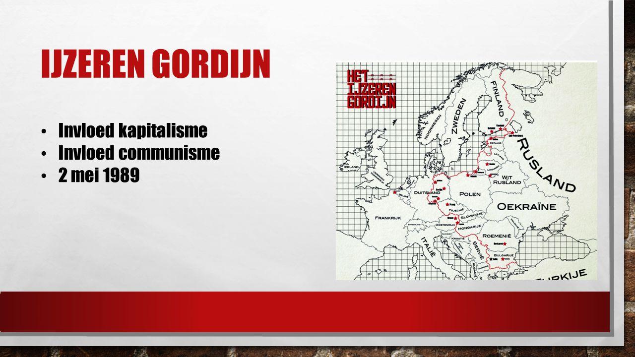 Ijzeren gordijn Invloed kapitalisme Invloed communisme 2 mei 1989