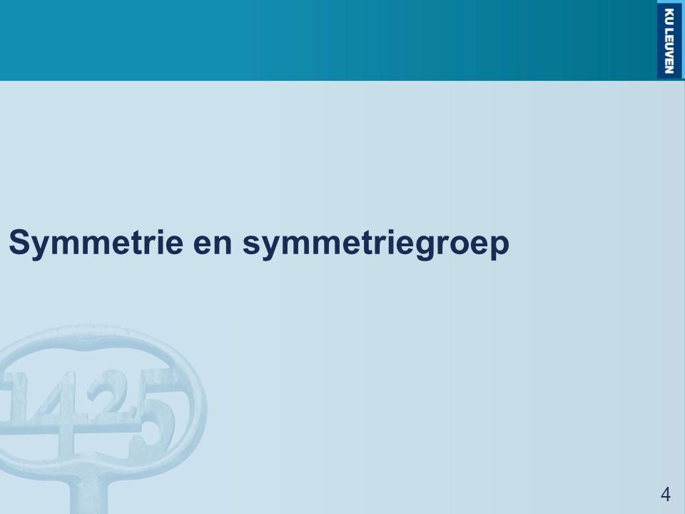Symmetrie en symmetriegroep
