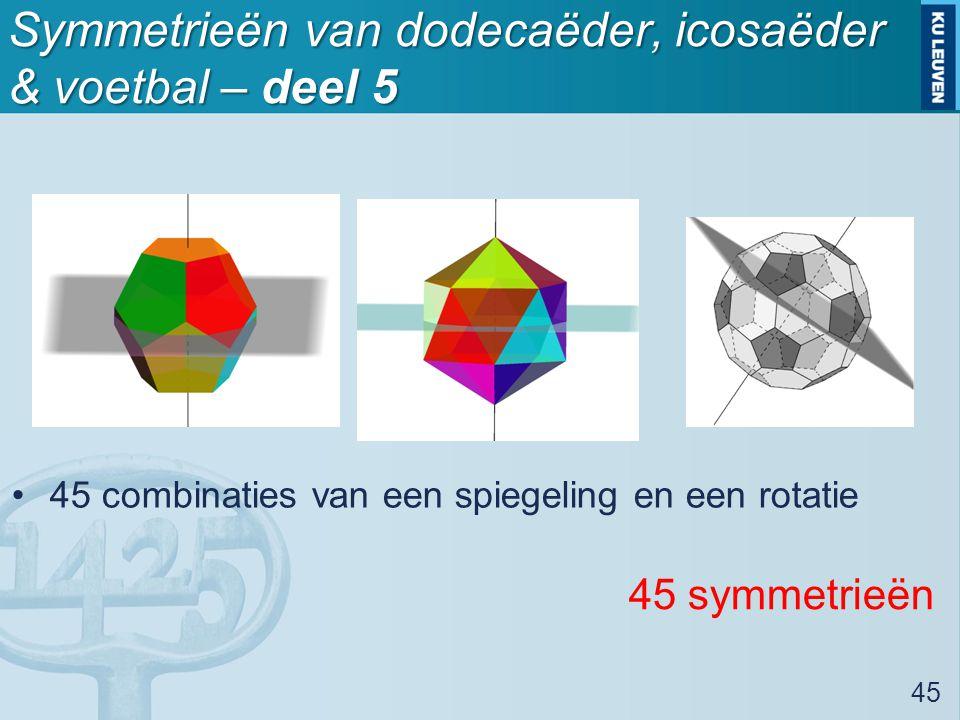 Symmetrieën van dodecaëder, icosaëder & voetbal – deel 5