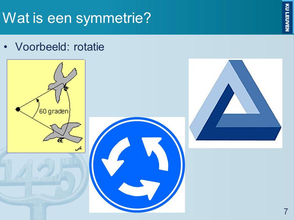 Wat is een symmetrie Voorbeeld: rotatie