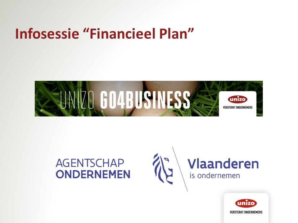 Infosessie Financieel Plan