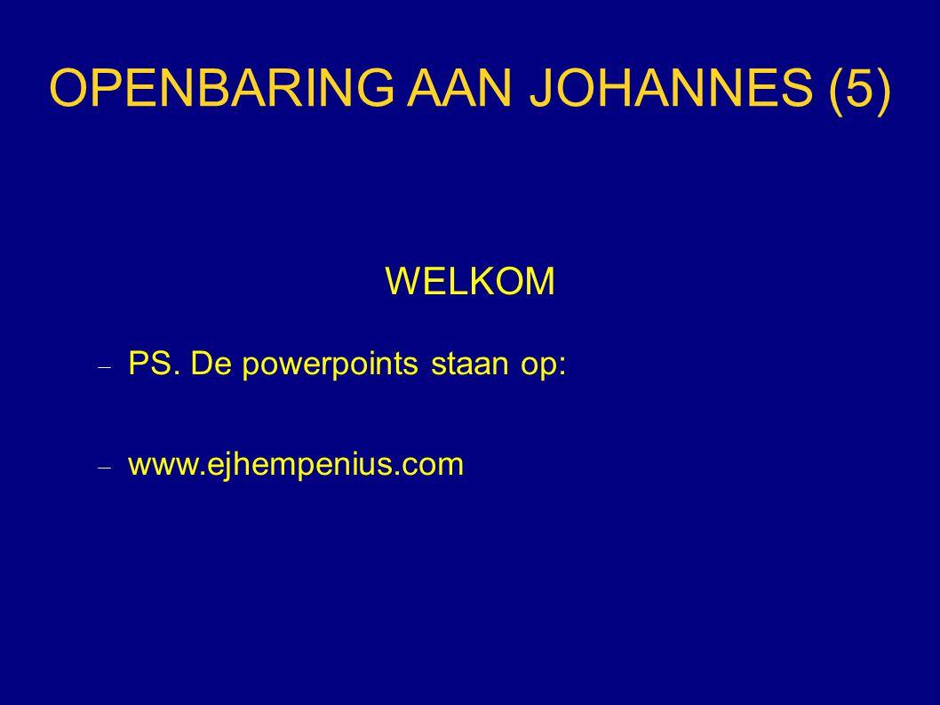 OPENBARING AAN JOHANNES (5)