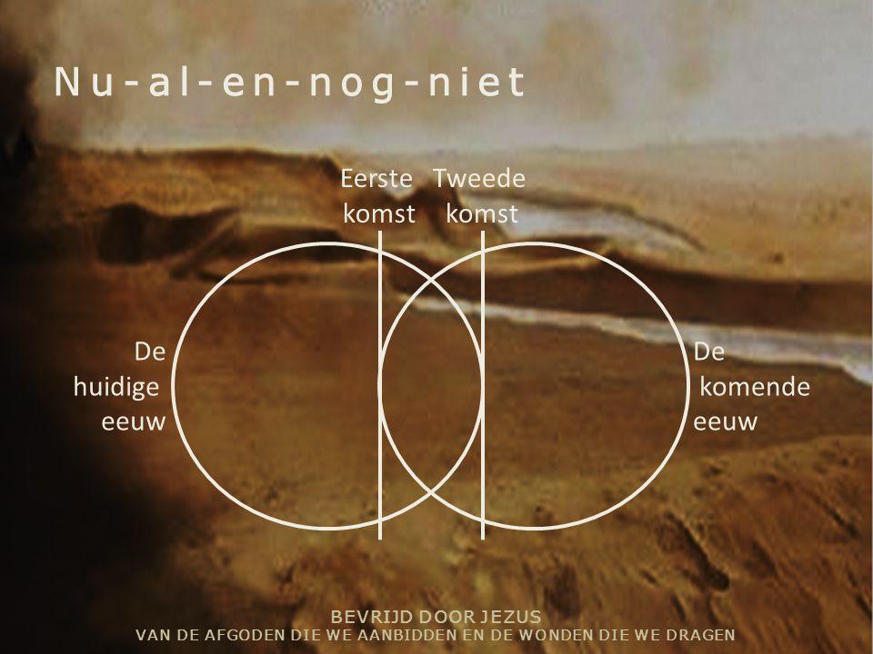 Nu-al-en-nog-niet Eerste komst Tweede De huidige eeuw komende