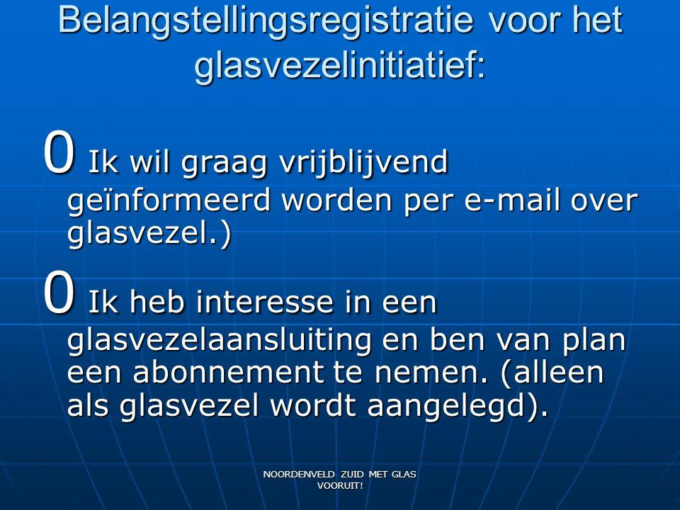 Belangstellingsregistratie voor het glasvezelinitiatief:
