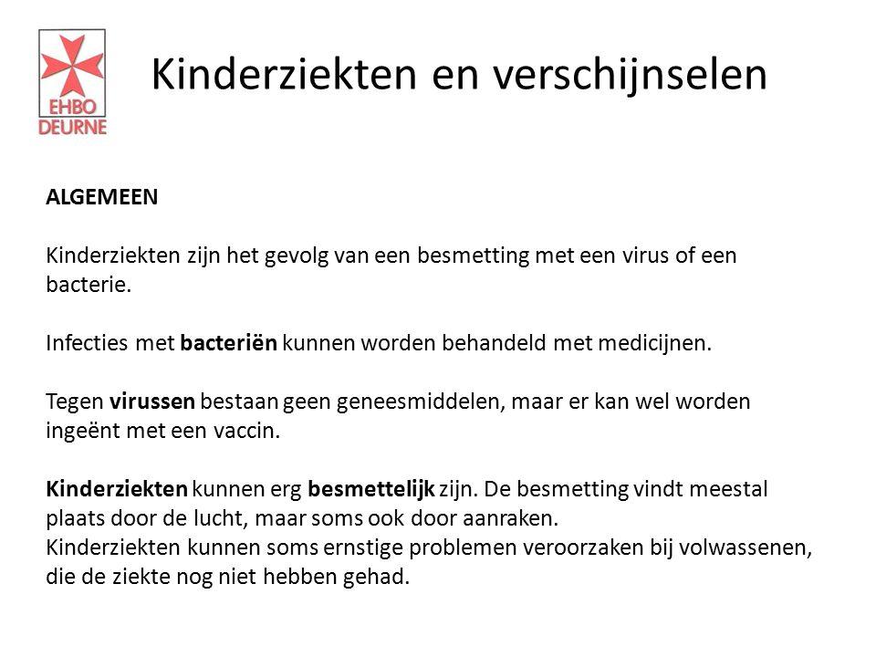 Kinderziekten en verschijnselen