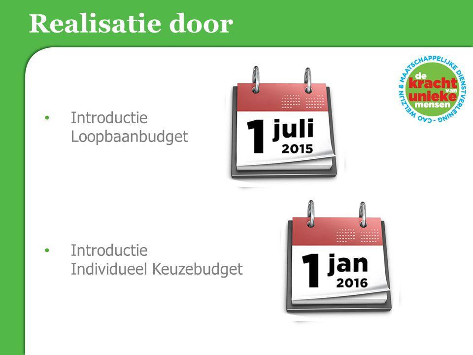 Realisatie door Introductie Loopbaanbudget