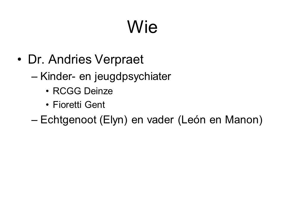 Wie Dr. Andries Verpraet Kinder- en jeugdpsychiater