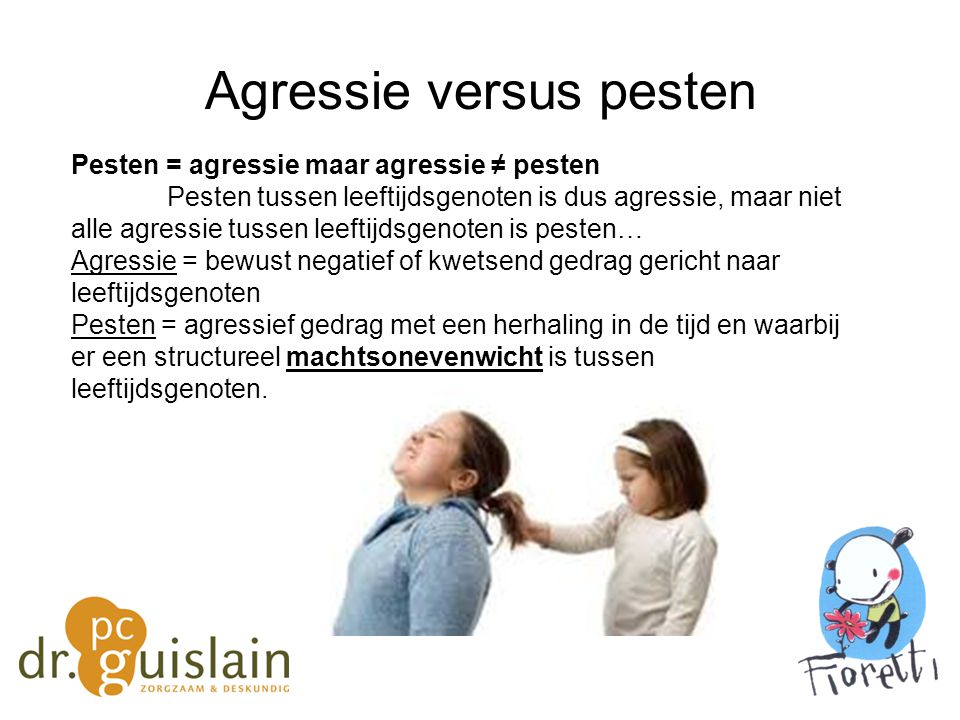 Agressie versus pesten